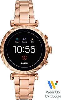 Fossil Women's Gen 4 Sloan HR Stainless Steel Touchscreen Smartwatch with Heart Rate, GPS, NFC, and Smartphone Notifications