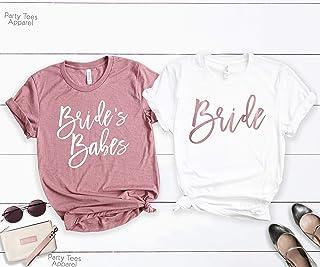 Bachelorette Party Shirts, Bride's Babes, Bridal Party Shirts, Babe of Honor T-Shirt, Wedding Party Tshirt, Bridesmaid Proposal, Bridesmaid Gift