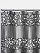 Popular Bath 231014 Sinatra Collection, Shower Curtain, Silver