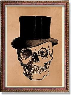Vintage Skull art print Human anatomy poster Antique anatomical illustration Medical picture