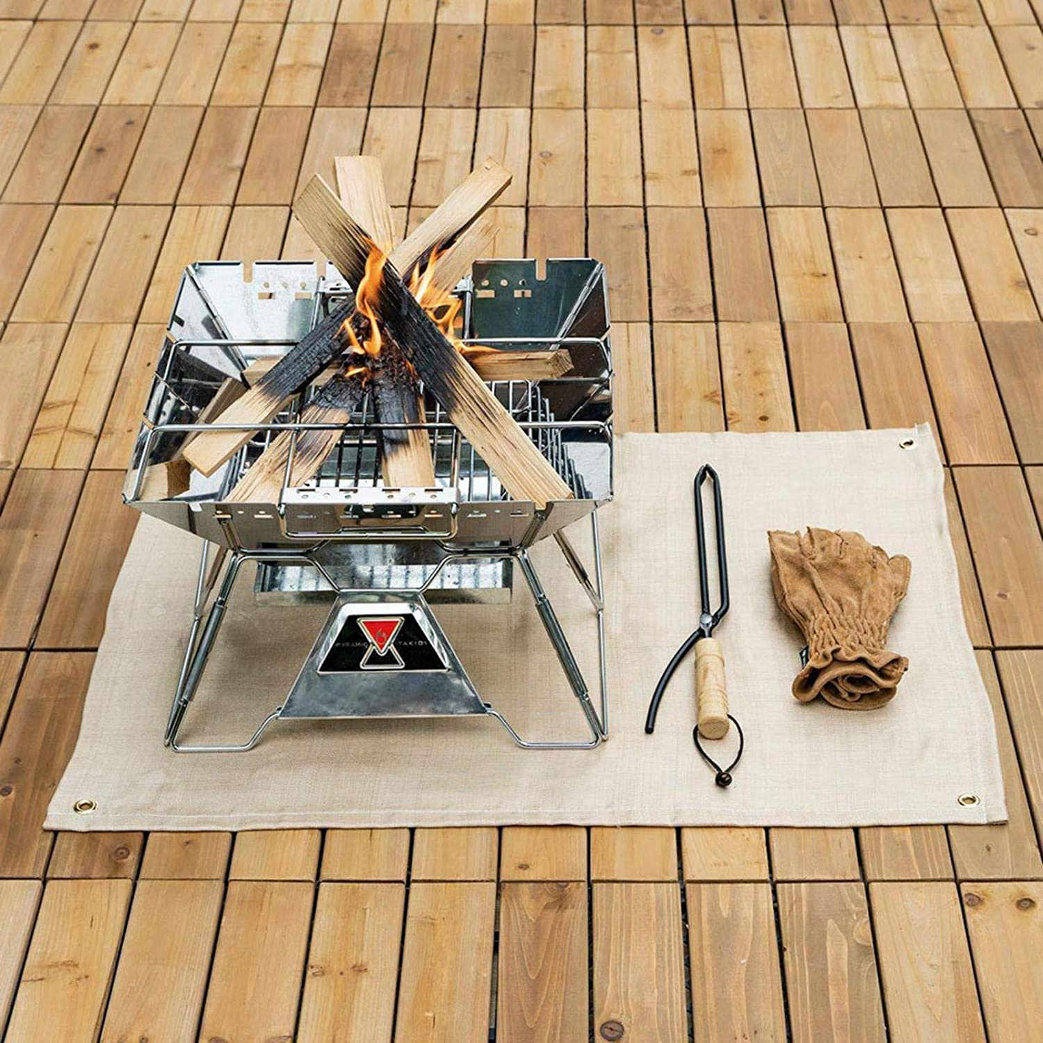 Fireproof Mat for Fire Pit for Wood Burner Gas Grill Mat Picnic Barbecue Heat Insulation Pad Camping Fireproof Blanket Flame Retardant Stove Floor Mat
