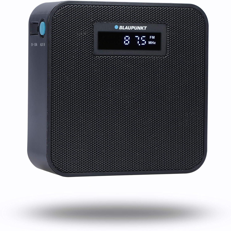 kleines Plug In Radio Freisprecheinrichtung UKW Steckdosenradio mit Bluetooth AUX IN wei/ß 10 Stunden Akku Laufzeit UKW Radio f/ür die Steckdose Powerbank BLAUPUNKT PRB 100 USB Ladestecker