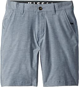 VISSLA Kids - Four Doors Four-Way Stretch Hybrid Walkshorts 18.5