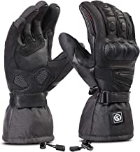 Image of day wolf Heated Gloves for Men & Women, Electric Rechargeable Battery Gloves for Motorcycle, Skiing, Snowboarding Hiking Cycling Hunting