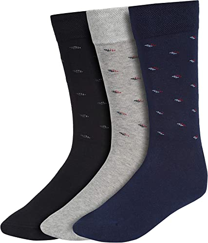Men s Cotton Calf Length Formal Socks Combo of 3 SCS 901