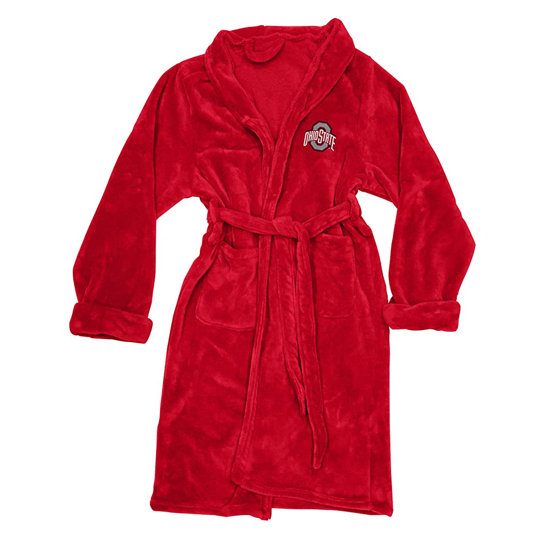 The Northwest Company Officially Licensed NCAA Ohio State Buckeyes Men's Silk Touch Lounge Robe, Large/X-Large