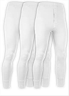 Andrew Scott Men's 3 Pack Premium Cotton Base Layer Long Thermal Underwear Pants