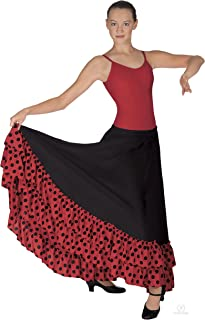 Womens Flamenco Skirt W/Dotted Ruffle (08804)