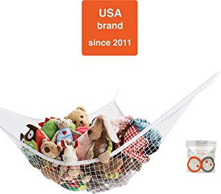 Mayapple Baby | Stuffed Animal Toy Hammock | Premium Plush Toy Hanging Organizer | Sky Jungle | Jumbo Extra Large Storage Mesh Pet Net | Organize Clutter in Kids Room | Expands to 6 Feet