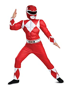 Boys Classic Multicolor Ranger Muscle Power Ranger Costume