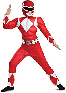 Disguise Red Ranger Classic Muscle Child Costume, Red, Size/(4-6)
