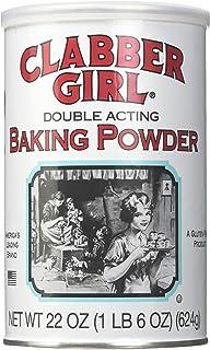 Clabber Girl Baking Powder - Gluten Free, Vegan, Vegetarian, Double Acting Baking Powder in a Resealable Can, Kosher, Hala...