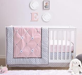 The Peanutshell Princess Crib Bedding Sets for Baby Girls   3 Piece Nursery Set   Crib Comforter, Fitted Crib Sheet, Crib Skirt Included