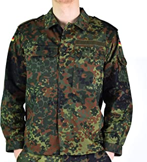 Original German Army Jacket Zipped Fleck-tarn Camouflage Tactical Combat BW Military Issue Filed Shirt