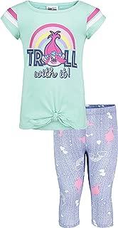 Trolls Girls Rainbow Fashion Top and Legging Set Legging Set