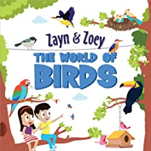 Zayn and Zoey - The World of Birds - Board Book - Educational Story Book for Kids - Children's Early Learning Picture Book...