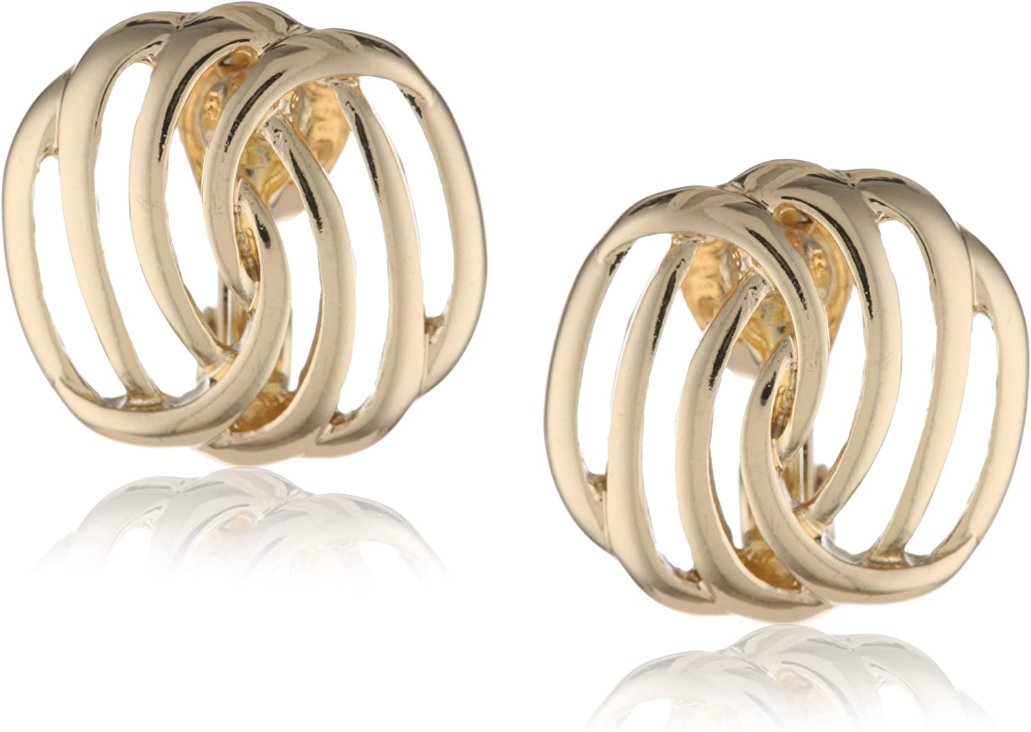 Napier New products world's highest quality favorite popular Gold-Tone Twisted Clip-On Earrings