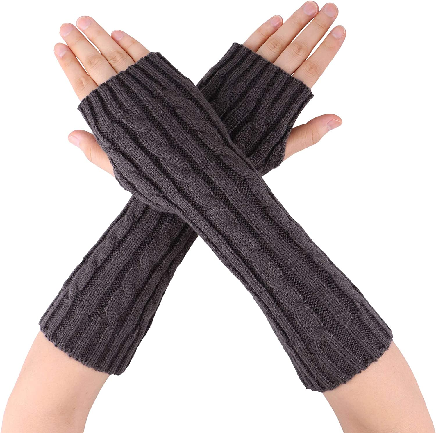 Simplicity Women Men Knitted Stretchy Half Finger Gloves