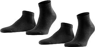FALKE Sneaker Happy 2-Pack Baumwolle Herren schwarz weiß viele weitere Farben verstärkte Herrensneaker ohne Motiv atmungsaktiv dünn und einfarbig im Multipack 2 Paar