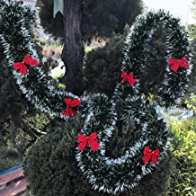 Pine Christmas Garland Artificial Pine Wreath Xmas Decorations Christmas Garland for Indoor Outdoor Holiday Party Garden H...