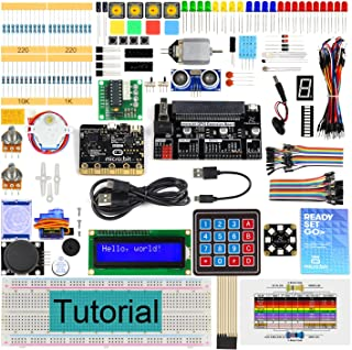 Freenove Ultimate Starter Kit for BBC Micro:bit (Contained), 305 Pages Detailed Tutorial, 225 Items, 44 Projects, Blocks a...