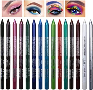 15 Colors Eyeliner Pen Set, Eye Shadow Pencil, Pearl Eyeliner Kit Metallic Eyeliner Pencil Glitter Eyeliner for Women Eye&Lip Liner Professional Eye Makeup Set Colorful Eyeliner Eye Color (15PCS)