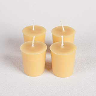 Candle Buzz Brand 100% Pure Beeswax Votive Candles 100% Cotton Wick Pack of 4