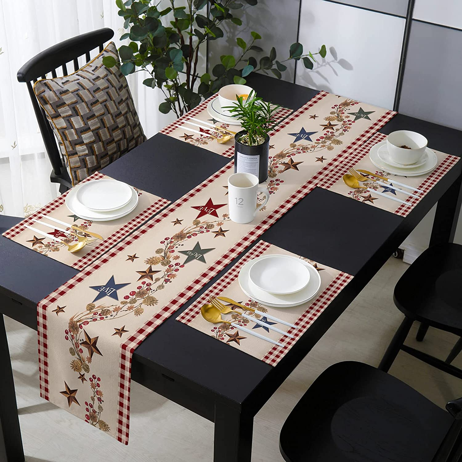 Table Runner Sets with Placemats Matching Mats 6 Max 86% OFF Sa Quality inspection -