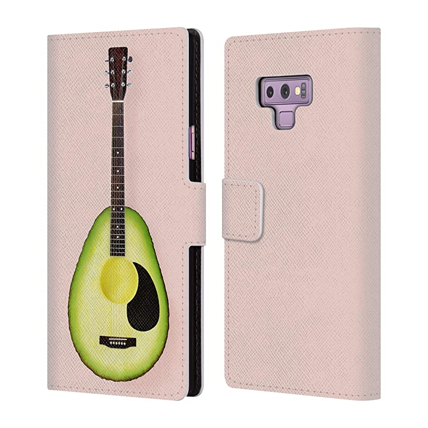 Official Paul Fuentes Avocado Guitar Pastels Leather Book Wallet Case Cover for Samsung Galaxy Note9 / Note 9
