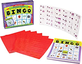 Carson Dellosa Basic Spanish Bingo Game—Learning Board Game With 50 Spanish Words With Photos, 36 Game Boards and Bingo Ch...