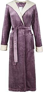 Femmes de luxe Ripple Robe de chambre polaire doux confortable Crème Robe De Chambre Poches Taille 8-18