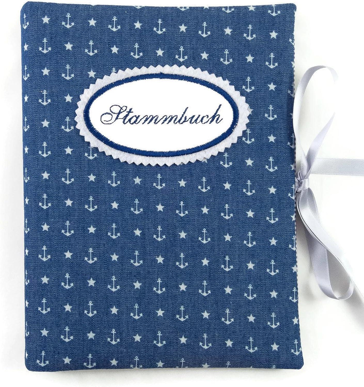 Sammelmappe DIN DIN DIN A5 - Stammbuch Jeans Anker blau - bettina bruder® B06XHPGKCL | Der Schatz des Kindes, unser Glück  26841f