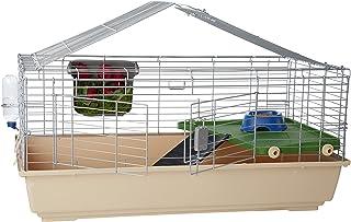 Amazonベーシック 小動物用ケージ 小屋 アクセサリー付き 107 x 61 x 51cm ラージ