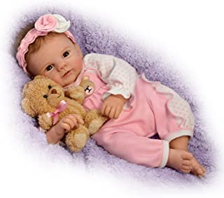 Violet Parker So Truly Real Baby Doll with Plush Teddy Bear by The Ashton-Drake Galleries