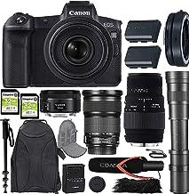 Canon EOS R Mirrorless Camera w/ 4 Lens Kit (24-105mm f/3.5-5.6 STM + 50mm f/1.8 STM + 70-300mm f/4-5.6 DG Macro + 420-800...