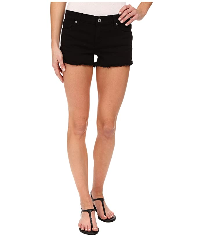 562a8a67c1b 7 For All Mankind Cut Off Shorts in Black   Zappos.com