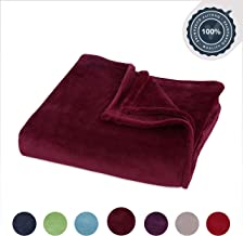 Berkshire Blanket Decorative VelvetLoft Blanket Plush Throw, Windsor Wine