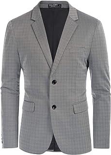 PJ PAUL JONES Men's Herringbone Blazer Jacket Lightweight Casual Knit Sport Coat