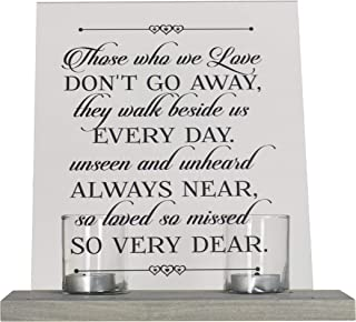 "LifeSong Milestones Loss of Mother, Father, Child, Parents Loved Ones Memorial Sympathy Candle 8"" x 10"" Acrylic Bereavement Sign with Gray Wood Base (Those Who We Love)"