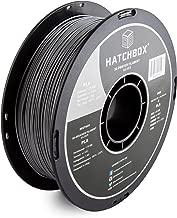 HATCHBOX PLA 3D Printer Filament, Dimensional Accuracy +/- 0.03 mm, 1 kg Spool, 1.75 mm, Silver