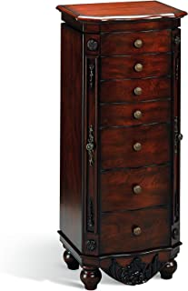 Coaster Home Furnishings 6-Drawer Jewelry Armoire Brown Red