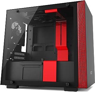 NZXT H200 - Caja de PC Gaming Mini-ITX - Panel de vidrio templado - Preparada para refrigeración líquida - Negro/Rojo - Versión 2018