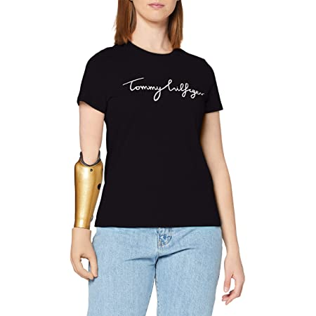 Tommy Hilfiger Damen Heritage Crew Neck Graphic Tee T-Shirt