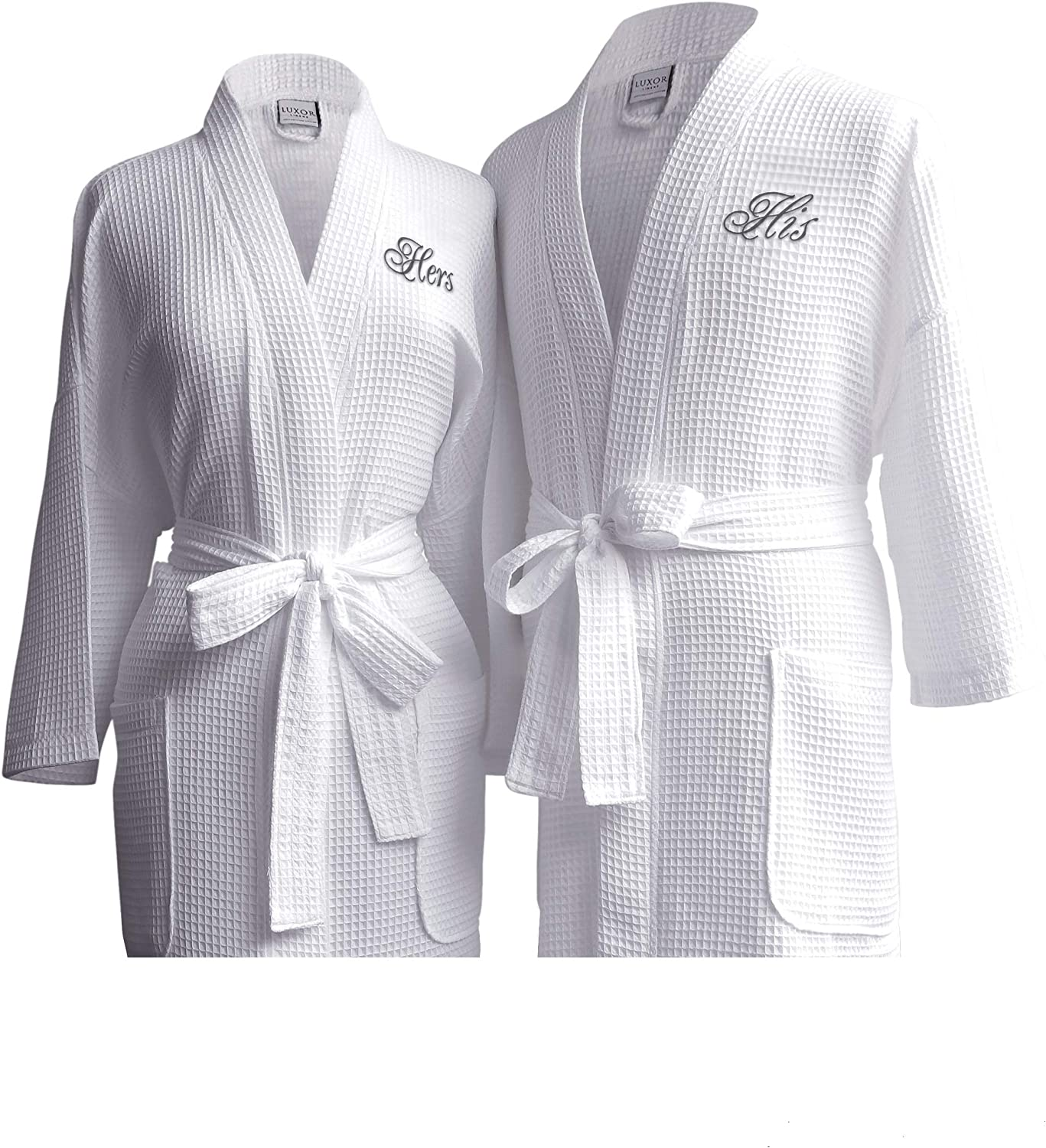 Luxor Linens Egyptian Cotton Waffle Weave His Robe Cou Hers Selling with Spring new work