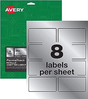 Avery PermaTrack Metallic Asset Tag Labels, 3-3/4