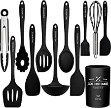 Kitchen Utensil Set- Cooking Utensils-Silicone Kitchen Utensils -Umite Chef Nonstick Cookware with Spatula Set - Colored B...