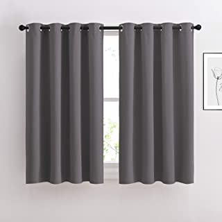 NICETOWN Blackout Curtains Panels for Bedroom - Window Treatment Thermal Insulated Solid Grommet Blackout Drapes for Livin...
