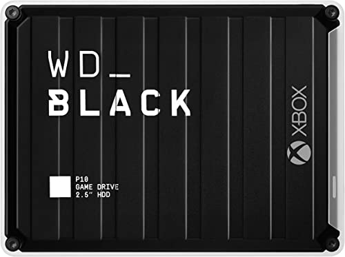 WD_BLACK P10 Game Drive for Xbox 4 To - Disque Dur Externe Portable Assorti d'Un Mois d'Abonnement à Xbox Game Pass