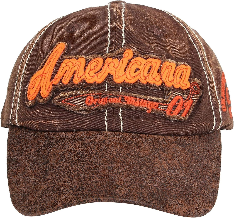 WITHMOONS American US Distressed Vintage Baseball Cap Dad Hat Adjustable KZ10036