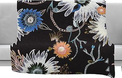 80 x 60 Fleece Blanket Kess InHouse Crystal Walen Mona Brush Stroke-Floral Painting Throw